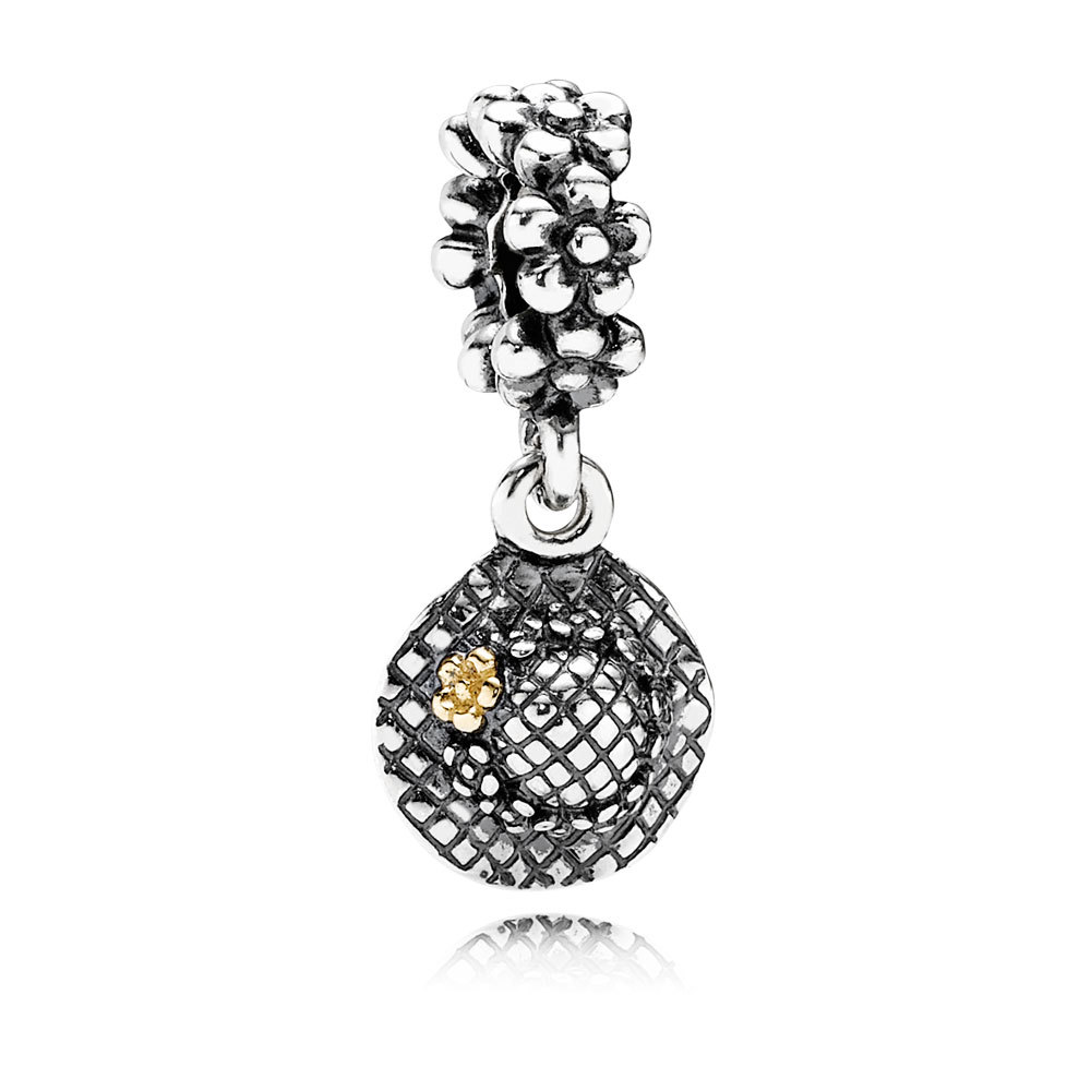 Fashion Colletion 100 925 Sterling Silver Daisy Flower Heart Dangle charms Fit Pandora Bracelet Beads For Jewerly Making Gift in Beads from Jewelry Accessories