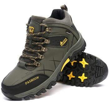 Merkmak Brand New Men Winter Snow Boots Warm Men High Quality Waterproof Sneakers Outdoor Male Hiking Boots Big Size Work Shoes 2