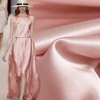 Pearlsilk Japanese Triacetate Satin Light Pink Thin Soft 100%Acetic acid Fabrics Materials Summer Dress The Cloth Freeshipping