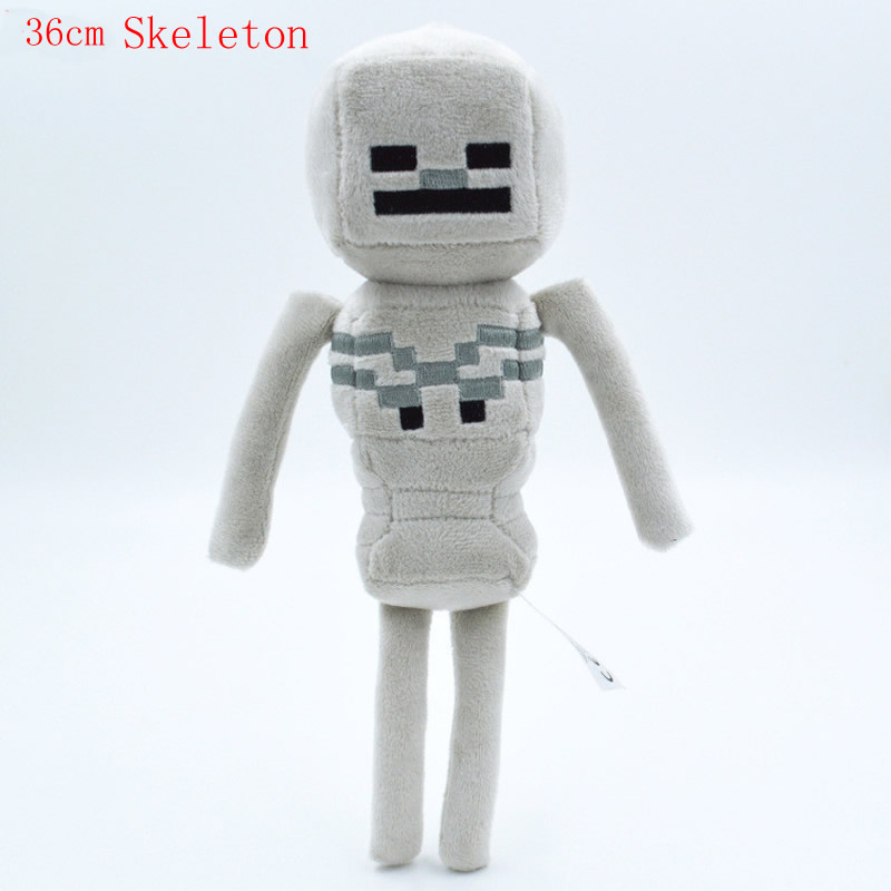 1pcs Big size Minecrafted Plush Toys Ender Dragon Creeper Enderman Wolf Steve Zombie Sketelon Ocelot Plush Stuffed Toys for Kids 1