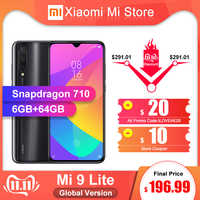 "Version mondiale Xiao mi 9 Lite 6GB 64GB Smartphone Snapdragon 710 Octa Core 48MP caméra 4030mAh 6.39 ""écran NFC"