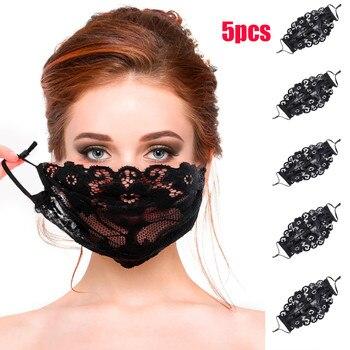 Μάσκες προσώπου αντιμικροβιακές με ρυθμιζόμενα λάστιχα λεπτές σετ των 5