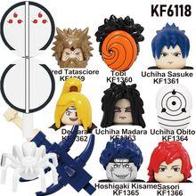 Building-Blocks Naruto Anime Figures Tobi Deidara Head-Toys Itach-Model Children