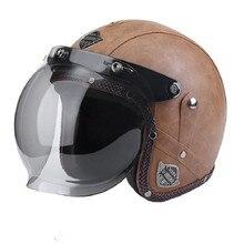 Open gesicht 3/4 helm personalisierte mens womens vintage retro motorrad cascos de motociclistas helme