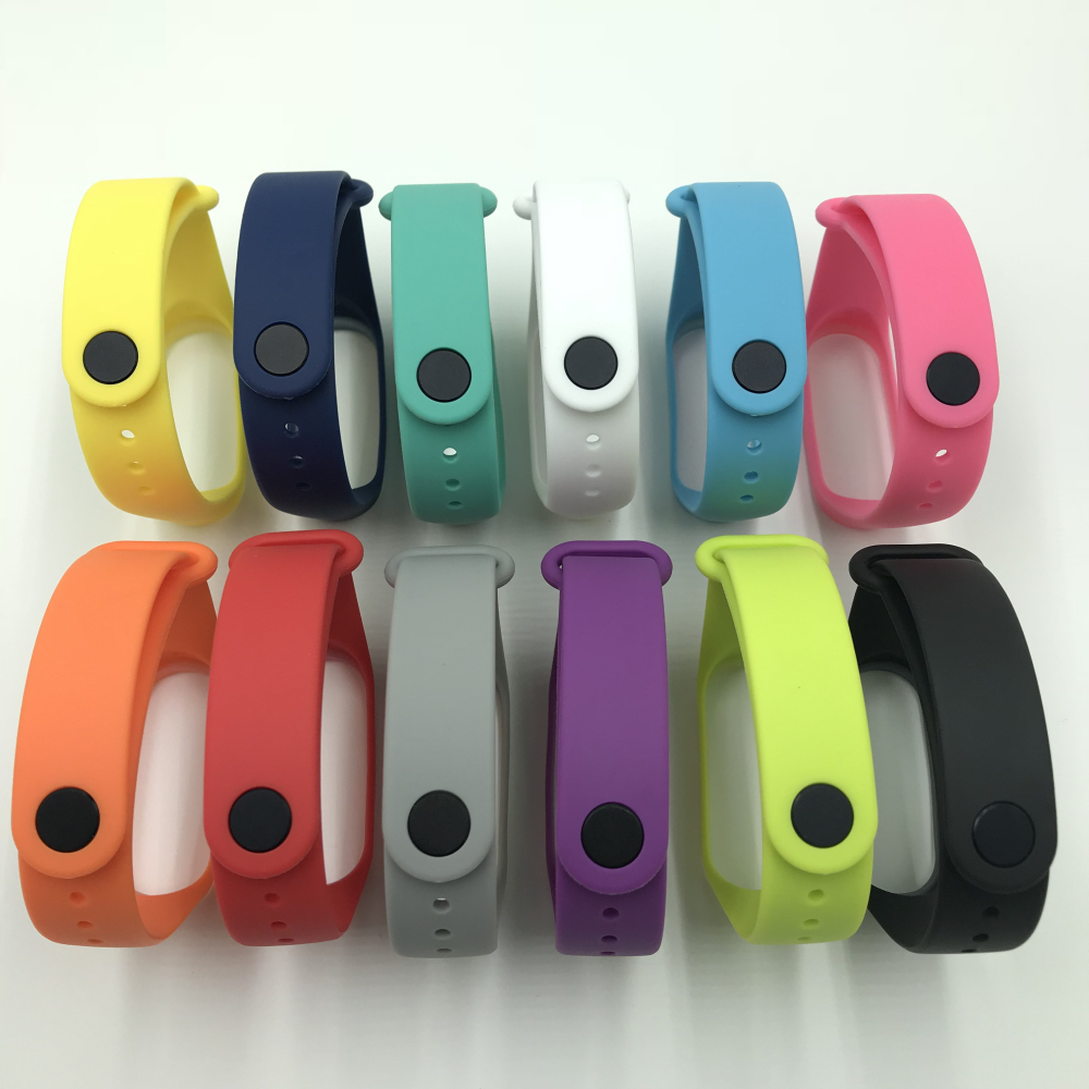 16 Colors Replaceable <font><b>Bracelet</b></font> For Xiaomi <font><b>Mi</b></font> <font><b>Band</b></font> <font><b>4</b></font> <font><b>Strap</b></font> Nylon <font><b>silicone</b></font> Sport <font><b>Wristband</b></font> For <font><b>Mi</b></font> <font><b>band</b></font> <font><b>3</b></font> <font><b>Mi</b></font> <font><b>Band</b></font> <font><b>4</b></font> Watch <font><b>Strap</b></font> image