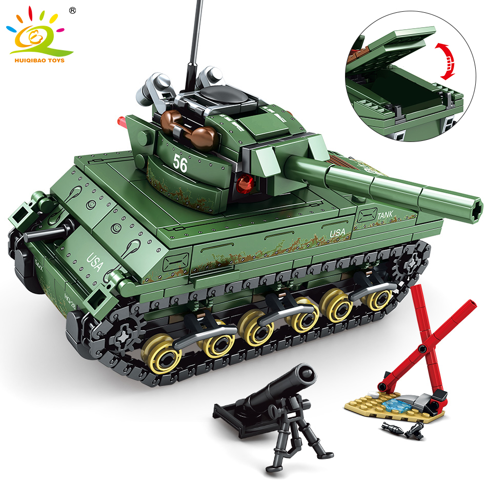 Armor USA Army Sherman M4 Tank Building Block Set