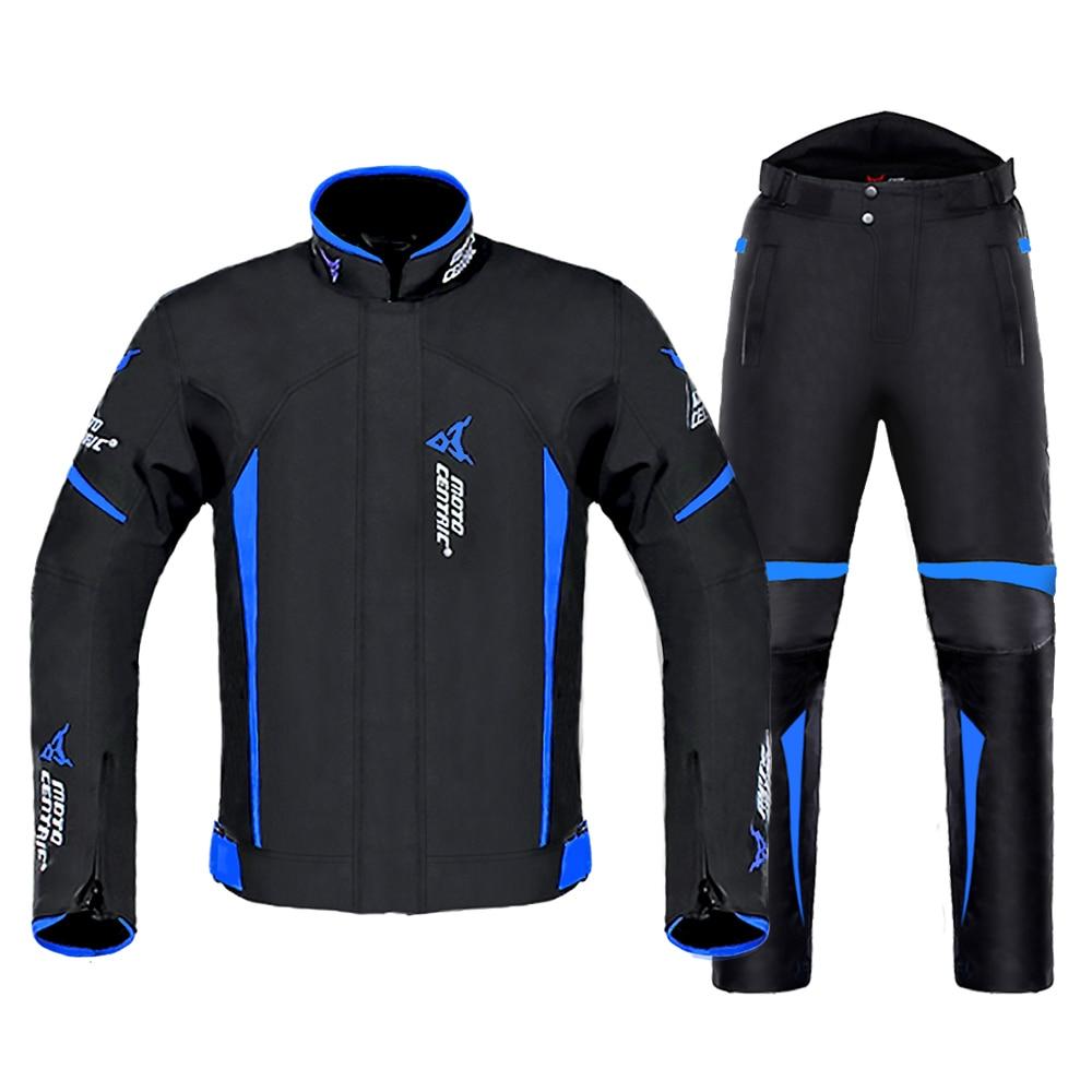 Motorcycle Jacket Man Set Windproof Waterproof Motorbike Moto Jacket + Pants Suit Body Armor Motocross Riding Moto for 4 Season|Jackets|   - AliExpress