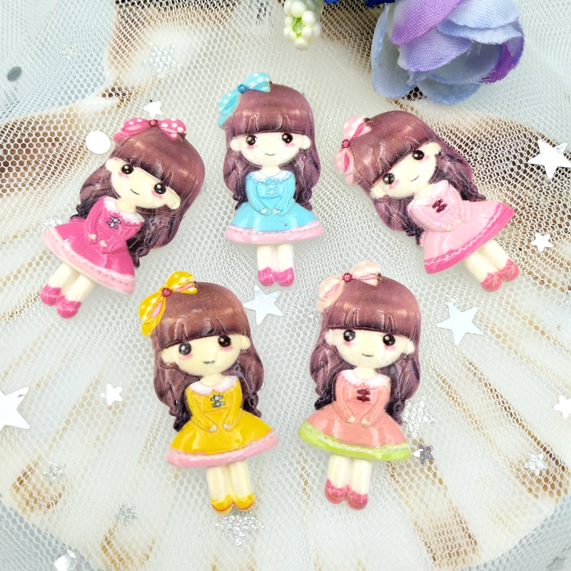 10pcs Kawaii Cartoon Princess Flatback Resin Art Decoration Charm DIY Scrapbooking Embellishment Accessories