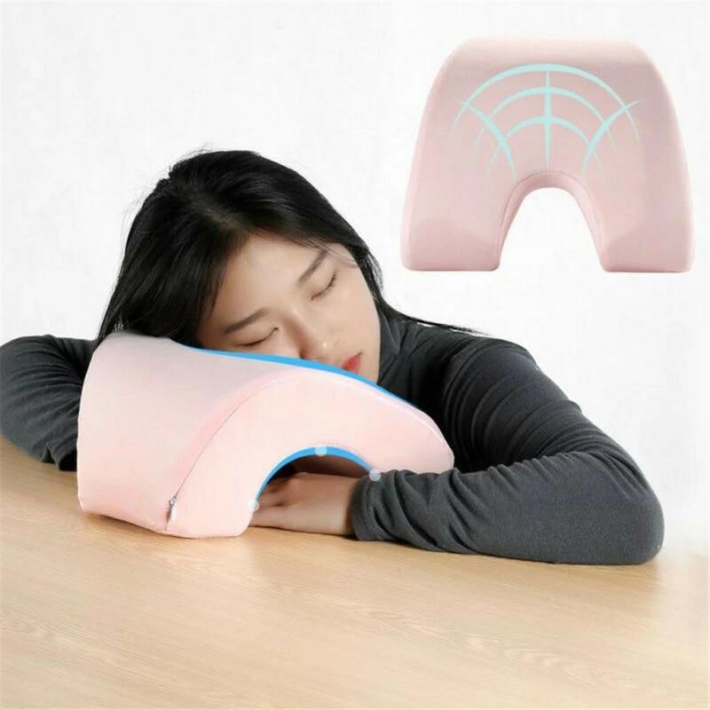 multifunctional solid color nap pillow desk sleeping lumbar pillows lunch break memory foam pillows