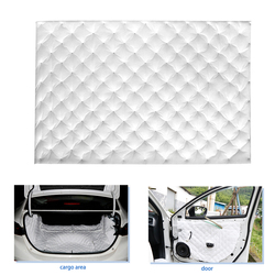 10mm Thick 500mmx250/300//350/650/800mm White Car Audio Stereo Sound Acoustic Foam Noise Absorbing Deadening Dampening Mat