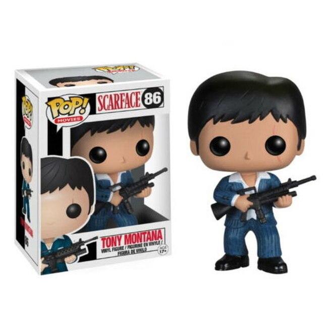 FUNKO POP SCARFACE TONY MONTANA #86 PVC Action Figure Toys Model Dolls for Kids Birthday Christmas Gifts 1