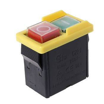 AC 250V 6A wodoodporny przycisk przecinarka maszynowa wiertarka On Off przełączniki skrzynka sterownicza przełączniki przełącznik elektromagnetyczny KJD6 KLD-2 tanie i dobre opinie CN (pochodzenie) NONE Safety Switch Z tworzywa sztucznego 2XPE1AA300252 Przełącznik Wciskany