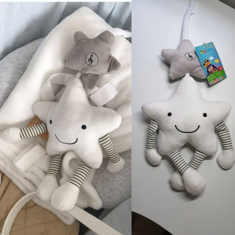 Music Star Crib Hanging New Baby Toys For Stroller Newborn Rattles Educational Plush Toys Q6PD