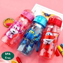 Детская чашка для воды, пластиковая соломенная чашка, анти-осенний чайник, BPA бесплатно, удобный пищевой материал, мультяшная чашка, милые Су...