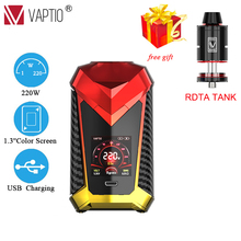 Gift RDTA TANK E-cigarette Mod Vape 220W Vaptio Super Cape Box Mod Power By Dual 18650 Battery Compatible with 510 Pin Atomzier