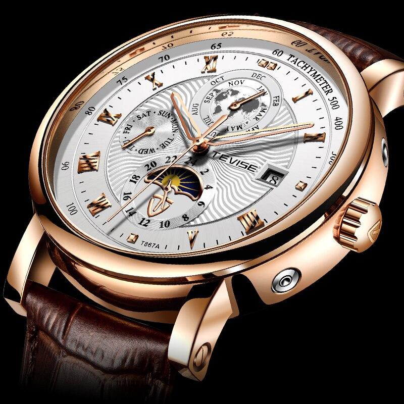 TEVISE – montre-bracelet pour hommes, automatique, mécanique, luxe, Sport, Tourbillon, nouvelle collection 2021