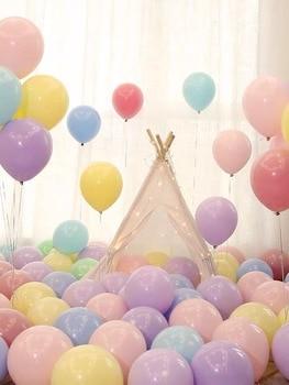 100pcs Macaron Balloons Pastel Party Latex Balloon Garland Colorful Candy Birthday Wedding Party Decoration Balloon Arch 100pcs 10inch latex balloon macaron color ins style for wedding decoration balloons birthday party baby shower party supplies