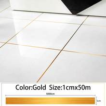 Self Adhesive Floor Tile Stickers Waterproof Gap Sealing Tape Strip Home Decora(China)