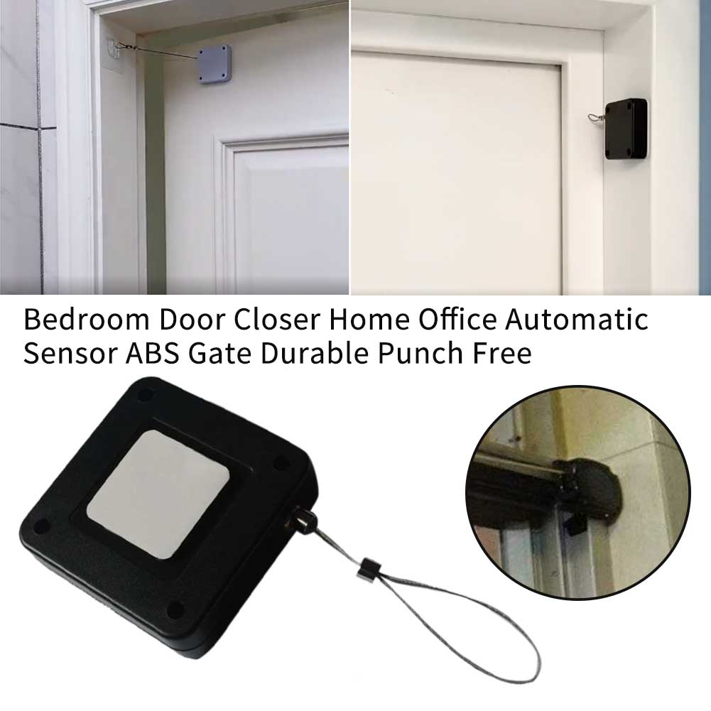 ABS Easy Install Hotel Door Closer Punch Free Automatic Sensor Universal Hydraulic Durable Practical Home Office Gate Bedroom