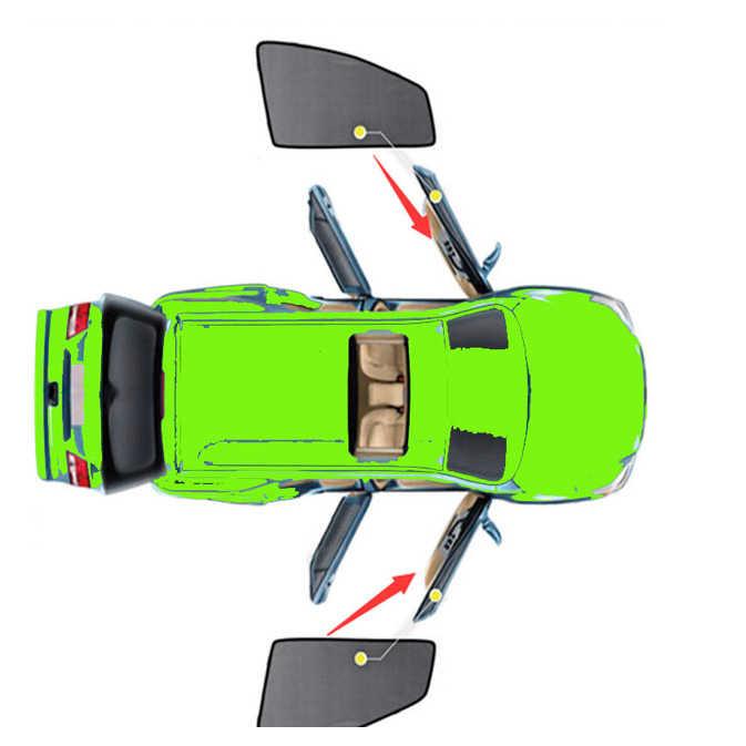 2 ピース/セットの車の窓のカーテン磁気車のサイドウィンドウサンシェードメッシュネットのためのトヨタキャリー 2018 2019