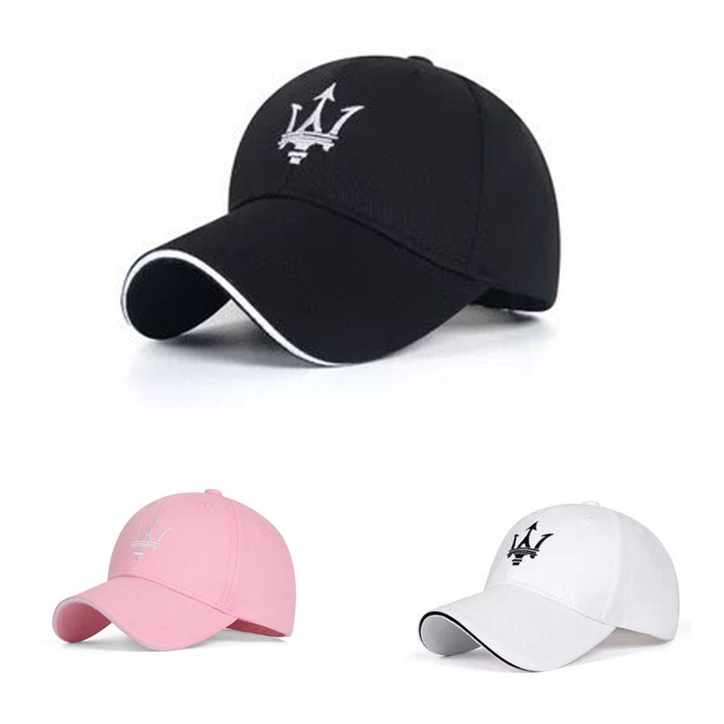 Cotton Peaked Cap For Maserati Quattroporte Ghibli Brand Logo Baseball Hat Embroidered Sunhat Outdoor Topee Men Women