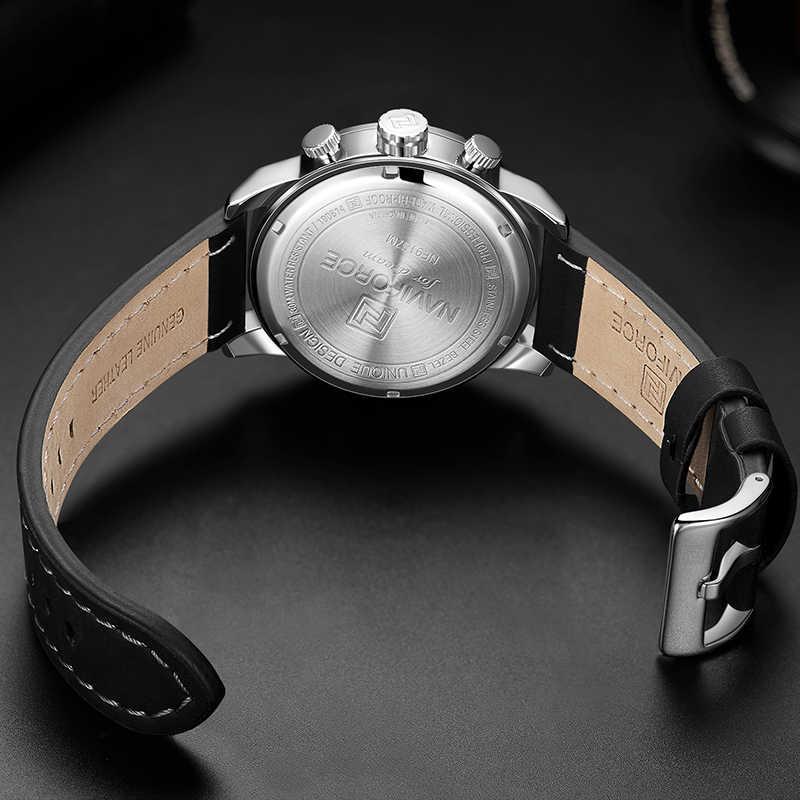 NAVIFORCE de la marca de lujo de los hombres es analógico de cuarzo relojes de pulsera de Moda hombre Deporte cronógrafo reloj hombres reloj Relogio Masculino 2019