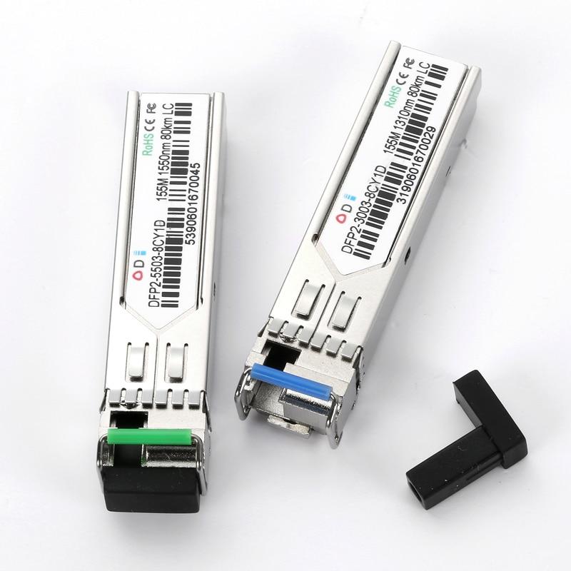 DFP2-5503-8CY1D 155M LC Single Fiber 80KMTransceiver Module SFP Module Fiber Optic