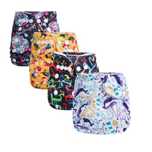AnAnBaby Sugar Skull Washable Baby Cloth Diaper Cover Waterproof Baby Diapers Reusable Cloth Nappy Suit 0-2years 3-13kg G Series