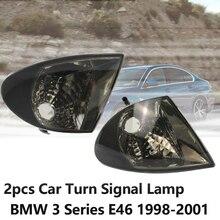2pcs Car Turn Signal Lamp Transparent smoke lens Car Corner Light for BMW 3 Series E46 1998 2001 Indicator Lights Car Accessory