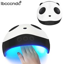 Panda UV LED Lamp for Nails 36W Nail Dryer Manicure Lamps Double Light Auto Motion Dryer Curing Gel Lacquer Polish with 3 Timers new curing gel polish nail dryer 48w sun uv led lamps nail polish dryer light auto motion drier curing gel timer manicure hb88