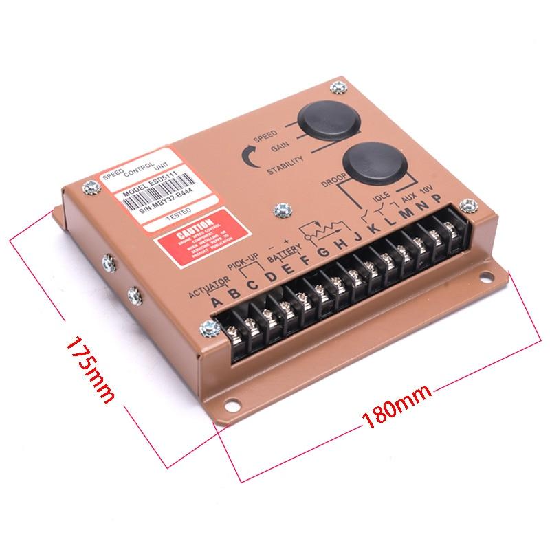 Engine Motor Speed Regulator ESD5111 Genset Adjustment Controller Power Supply Ac Generator Part 12V 24V Speed Govornor