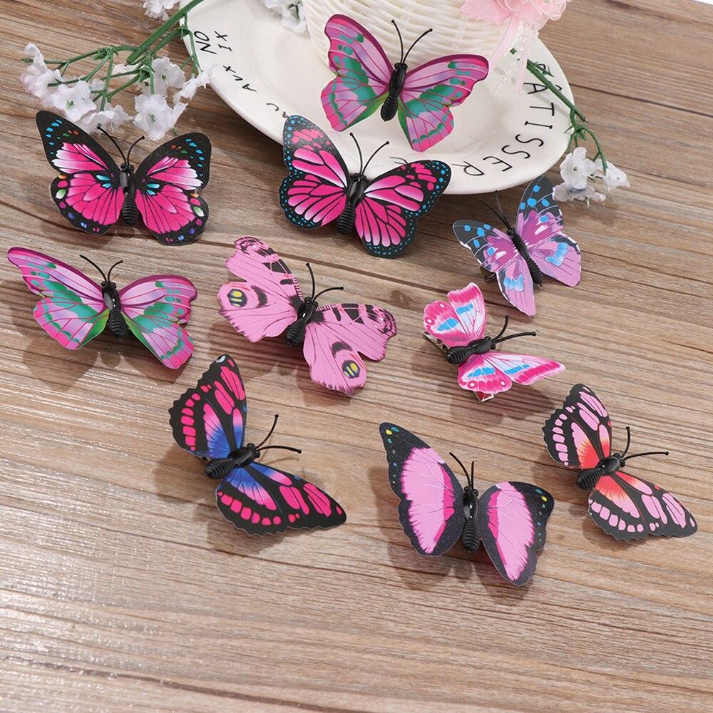 Заколки для волос с бабочками, 5 шт., Свадебный декор, аксессуары для волос, аксессуары для укладки волос