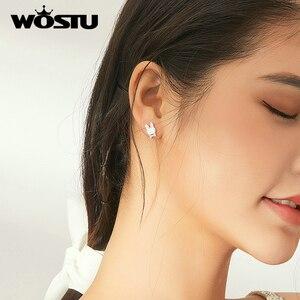 Image 5 - WOSTU 925 סטרלינג כסף בעלי חיים ארנב Stud עגילים לנשים בנות נשי עבור נשים כלה חתונה כסף תכשיטים