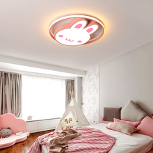 LICAN Modern LED Ceiling Lights for Baby Girls Bedroom Cartoon Rabbit Pink ceiling lamp children study room