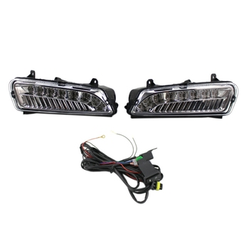 2Pcs LED DRL Daytime Running Light Fog Light for V/W Po-Lo 6R 2010 2011 2012 2013 2014 6R0941061C