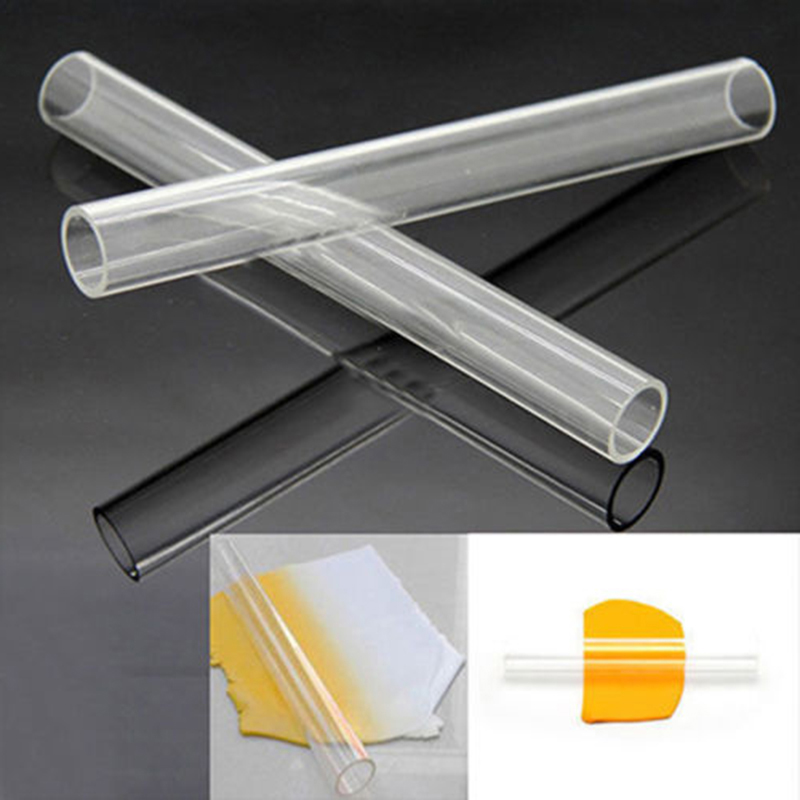Pro Clear Acrylic Roller Rolling Pin Sculpey Polymer Fimo Clay Craft Tool 20*2cm