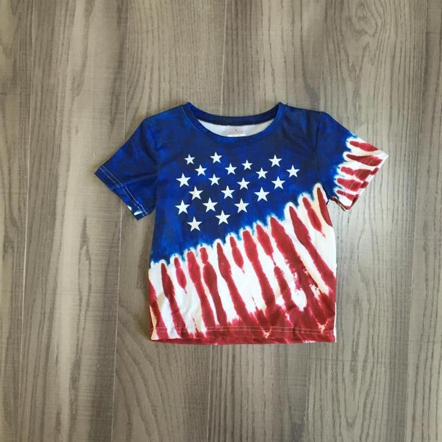 Kids Patriotic tie-dyed style shirt