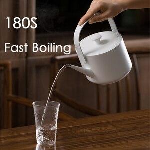Image 3 - XiaoTi bouilloire électrique rétro 600ml en acier inoxydable, nouvelle bouilloire électrique commerciale, 1200W, belle bouilloire