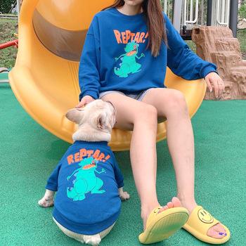 Uroczy piesek ubrania kreskówka drukowane pies bluza z kapturem rodzina pasujące ubrania dla zwierząt właściciel psa pasujące kostium Teddy Bichon buldog tanie i dobre opinie OLOEY CN (pochodzenie) 100 bawełna Jesień zima moda Adorable Pet Dog Clothes Cartoon Printed Dog Hoodie Family Matching Pet Clothes