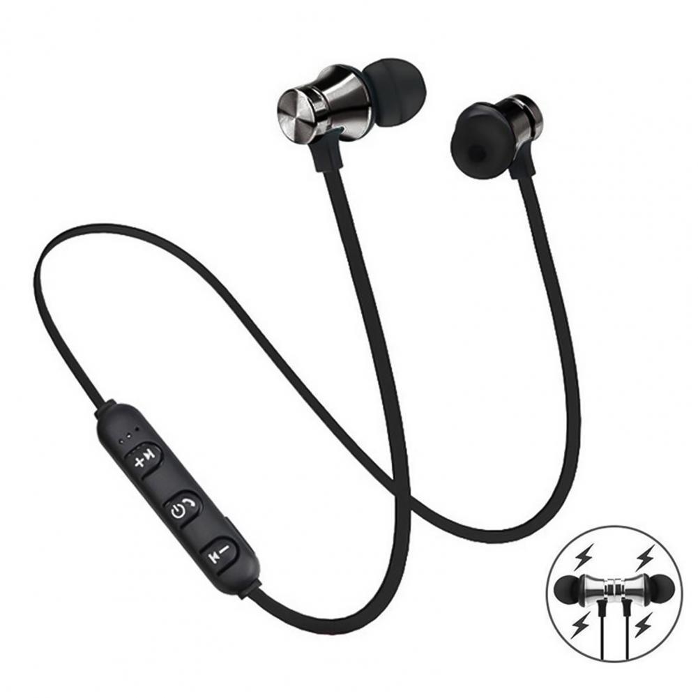 Magnetic Wireless Bluetooth Earphone Stereo Sports Waterproof Earbuds Wireless in ear Headset with Mic