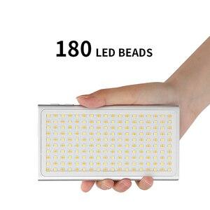 Image 2 - جيب صغير 180 LED الفيديو الضوئي Vlog لايف ستريم التصوير الإضاءة ل DSLR الهاتف الذكي مصباح محمول مع المزدوج الباردة الحذاء
