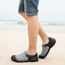 Men Sandals Crocks Summer Hole Shoes Crok Rubber Clogs Men Unisex Shoes Black Crocse Beach Flat Sand