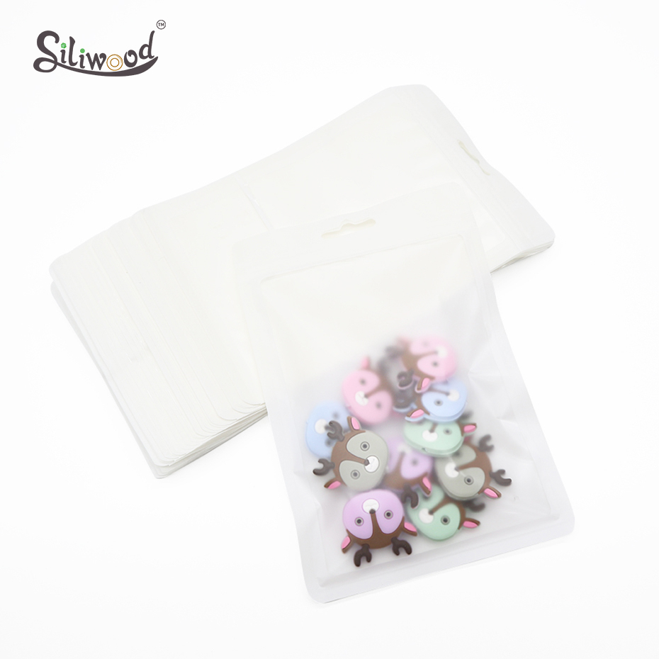 Plastic Bags White 100pcs (12*18cm) Display Bags BPA Free Baby Toys Package Pacifier Chain Show Punch Pendant Bags Accessories