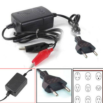 12V Portable Car Battery Charger Trickle Maintainer Boat Motorcycle For Auto Truck Motorcycle Scooter Motorcycle Accessories image