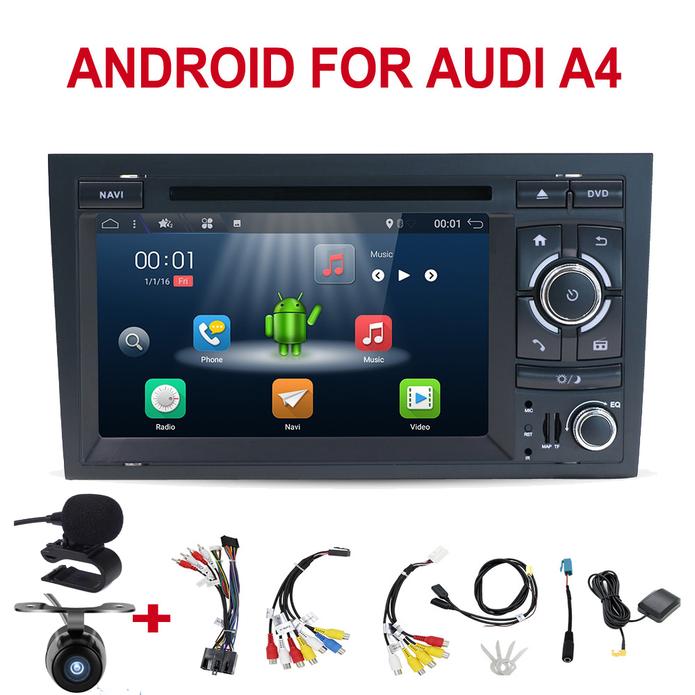 Car Multimedia Player Android 10.0 2 din Car DVD for Audi A4 B6 B7 S4 car radio gps navigation WIFI BT SWC RDS stereo headunit image