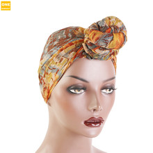 цены New Women Headwrap All Size Bandana Headwear Ladies Multicolor Hair Scarf Printed Knot voile Turban  Silky African Pattern Hat