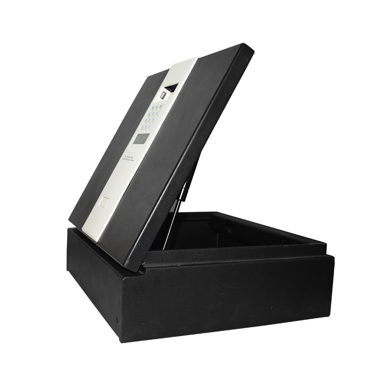 Safe Box Small Household Bedside Anti-Theft Electronic Password Wall Hotel Safety Box All-Steel On Flip Safe-Deposit Box