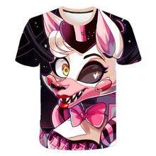2021 new summer cartoon fnaf t-shirt for boys Five Nights at Freddy's t shirt Freddy