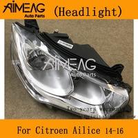 Citroen ailice 2014-2016 용 헤드 라이트 어셈블리 새로운 프론트 램프 헤드 라이트.