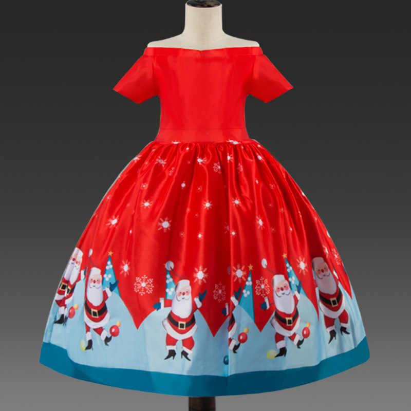 Vestido de navidad rojo ceremonia niños Santa vestidos para niñas vestido de fiesta de invierno ropa de bebé ropa de navidad vestido de fiesta infantil